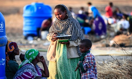 Ethiopian migrant who fled intense fighting in their homeland of Tigray AFP