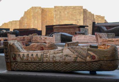 wooden sarcophagi