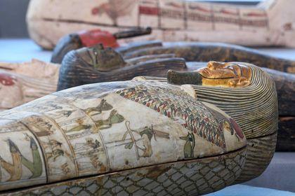 wooden sarcophagus