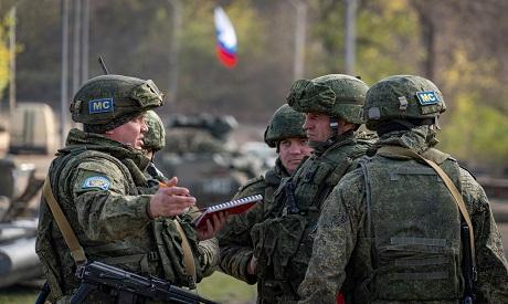 Russian peacekeepers in Karabakh. Reuters