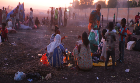 Ethiopian refugees fleeing clashes in the country