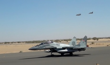 Egyptian jets participating in the Nile Eagles 1 joint training with the Sudanese Air Forces (Photo