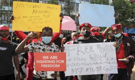 Ugandan protesters