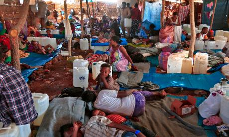 Ethiopian refugees at the Um Rakuba camp in Sudan
