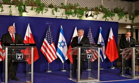 Pompeo, Netanyahu, Al Zayani