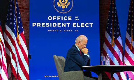 Trump lays landmines for Biden