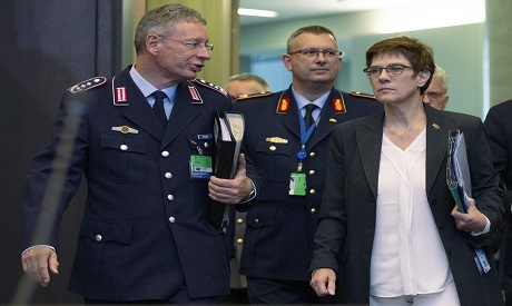 German Defense Minister Annegret Kramp