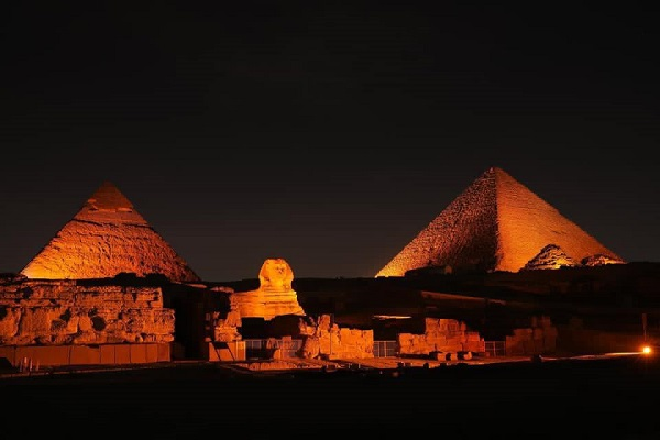 Pyramids in orange