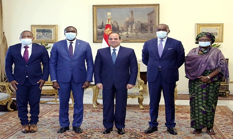 Sisi with the Congolese delegation
