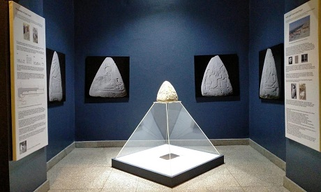 A special exhibition of a pyramidion uncovered in Assasif necropolis by South Assasif Conservation P