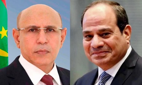 Presidents El-Sisi and Mohamed Ould