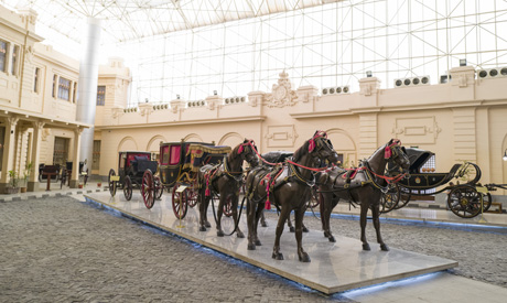 Celebration and medallion halls at the Royal Carriages Museum