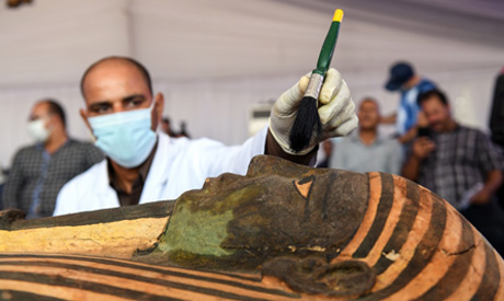 Coffins              discovered in Saqqara