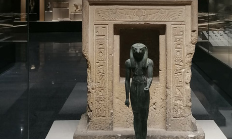 A Horus statue at Kafr Al-Sheikh Museum