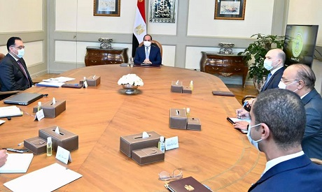 President Abdel Fattah El Sisi meets with visiting CEO of Vodafone Group Nick Read