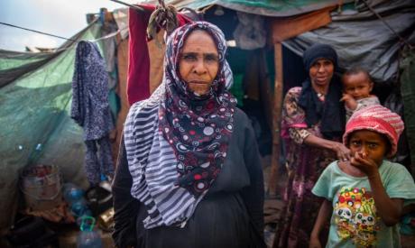 A displaced Yemeni woman