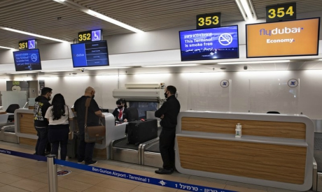 Israelis prepare to fly to Dubai at the Ben Gurion airport in Israel