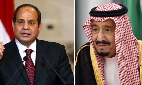Egyptian President Abdel-Fattah El-Sisi;  Saudi King Salman bin Abdel Aziz Al Saud