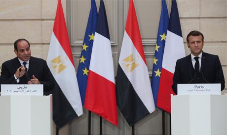 President Abdel-Fattah El-Sisi and president Macron