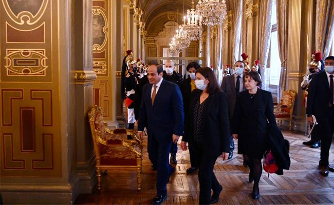 El-Sisi with Mayor of Paris