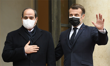 Al-Sisi with the French President Emmanuel Macron