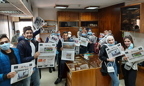 MTI university students visit Al-Ahram Weekly