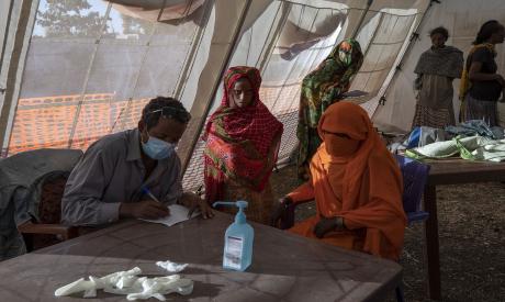 Tigray refugees AFP