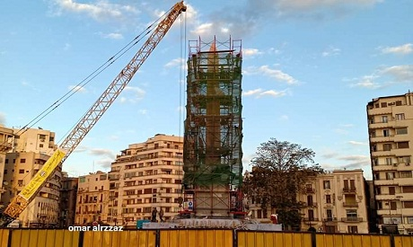 Cairo's Tahrir Square obelisk has its pyramid-shaped top installed - Ancient Egypt - Heritage