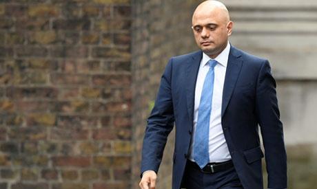 Sajid Javid arrives at Downing Street in London, Britain February 13, 2020. (Reuters)