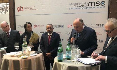 FM Shoukry at MSC