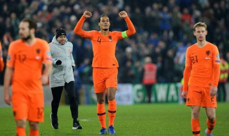 Netherlands defender Van Dijk (AFP)