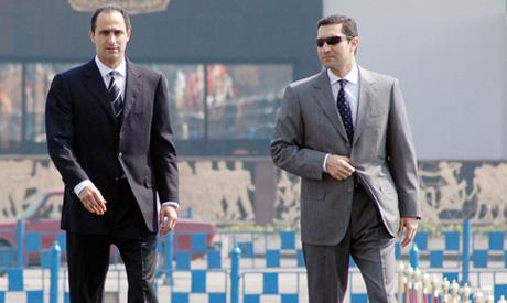 Gamal and Alaa Mubarak, sons of former President Hosni Mubarak