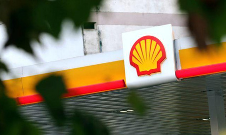 A Shell logo is seen at a gas station in Buenos Aires, Argentina, March 12, 2018. (Reuters)