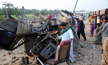 Train Accident in Pakistan