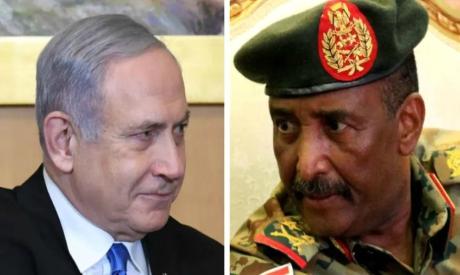 Benjamin Netanyahu and Abdel-Fattah Burhan