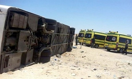 A file photo of a road accident in Egypt