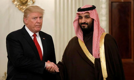U.S. President Donald Trump and Saudi Deputy Crown Prince and Minister of Defense Mohammed bin Salma