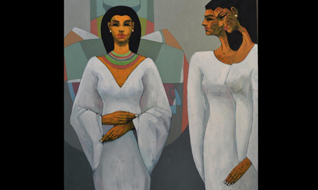 Pharaonic paintings by Alaa Abu Elhamd