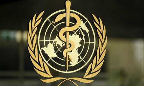 The World Health Organization (WHO) logo is pictured at the entrance of its headquarters in Geneva (