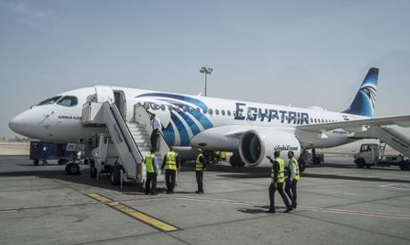 Egypt airplane on the tarmac of Egypt
