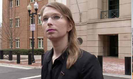 File photo: Former U.S. Army intelligence analyst Chelsea Manning speaks to reporters outside the U.