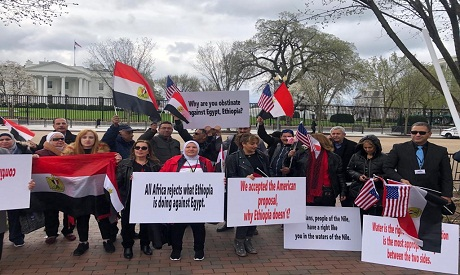 Egyptian expats at the white house