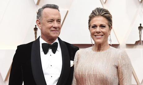 Tom Hanks, left, and Rita Wilson (AP)