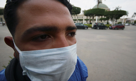 A medical staff member wears a protective mask amid concerns over the coronavirus disease (COVID-19)