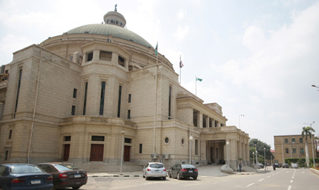 The Cairo University is seen almost empty following government efforts to slow the spread of the cor
