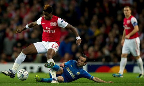 Alex Song played 209 games for Arsenal (AFP)
