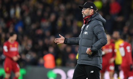 To be so far clear is 'unthinkable', says Liverpool boss Jurgen Klopp