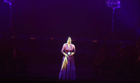The first hologram concert in Egypt at the Cairo Opera House