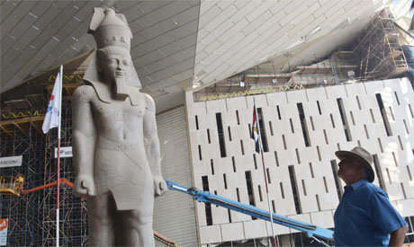 Ramses the Great welcomes visitors