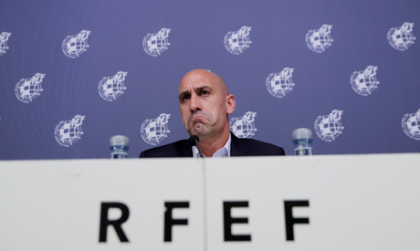 File photo: Spanish Football Federation president Luis Rubiales during the press conference  (Reuter